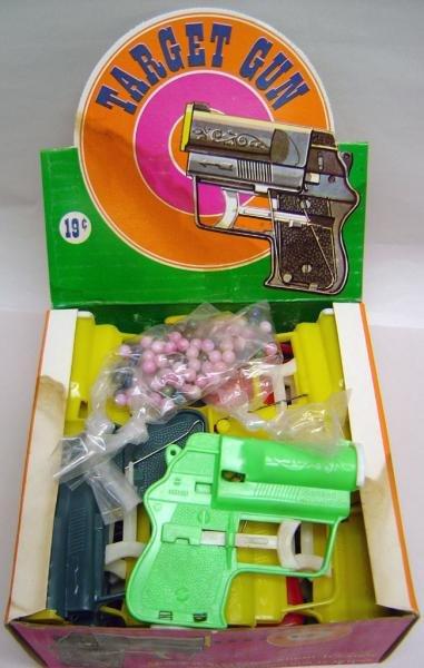 Target Gun Toy Store Display Box Full 1960s