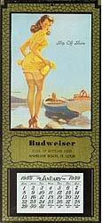 Budweiser Pinup Calendars - Vintage