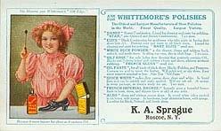 Guilt Edge Ladies Shoe Polish Ink Blotter 1910