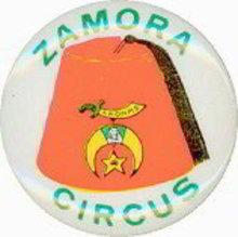 Zamora Circus Pinback Pin
