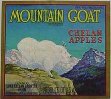 Mountain Goat Apple Crate Label