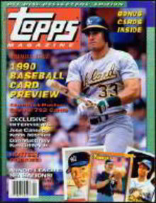 Topps 1990 Baseball Cards Magazine