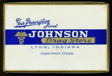 Johnson Medicine Drug Store Box 1920