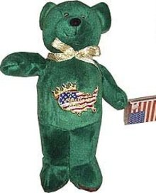 John F. Kennedy Jr. Beanie Baby Toy Bear