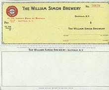 Simon Brewery Checks 1940s