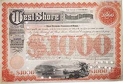 West Shore Railroad Bond 1922
