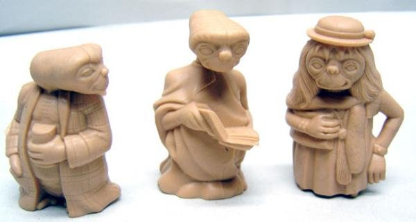 E.T. Figurine Statues Toys 1980s