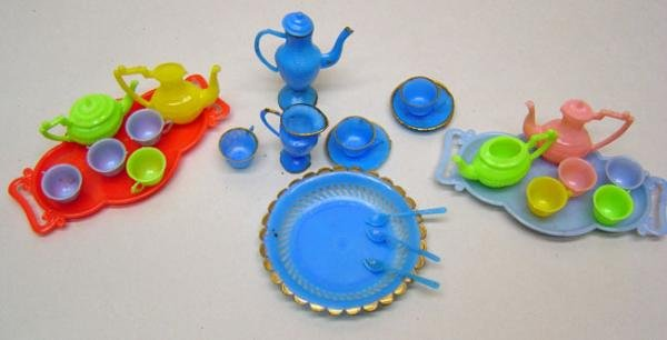 Dollhouse Play Sets 1960s Vintage Toys