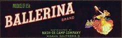 Ballerina Grape Crate Label