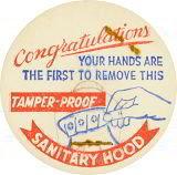 Sanitary Milk Cap Hood 1940s
