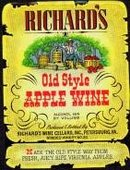 Richard's Apple Wine Label