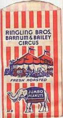 Ringling Brothers Circus Peanut Bag