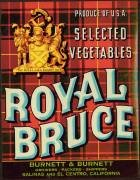 Royal Bruce Vegetable Can Label