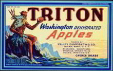 Triton Washington Apples Crate Label