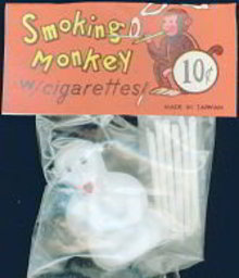 Smoking Monkey Toy in Original bag 1960s