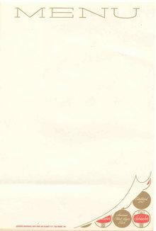 Schaefer Beer Menu Sheet 1950s NYC