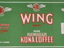 Kona Coffee Label