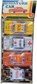 Japan Tin Litho Cars Toys - Emergency