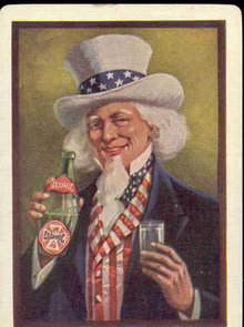 Uncle Sam Clysmic Water Playing Card