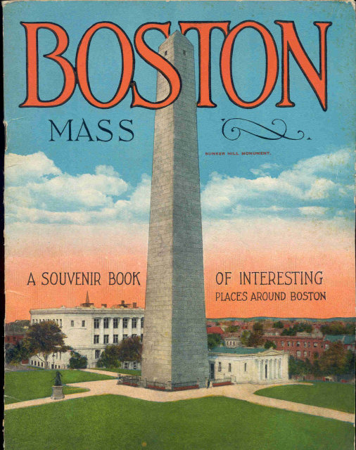 Boston Massachusetts Souvenir Booklet