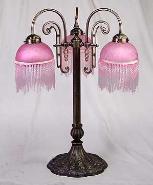 Table Lamp Beaded Shades - New