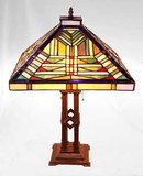 Tiffany Style Mission Glass Lamp - New