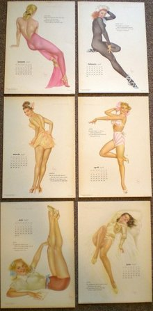 Varga Calendar Girl Prints 1948