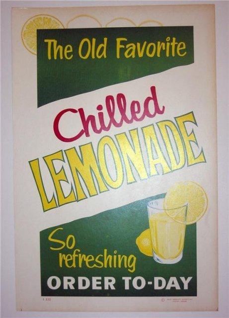 Diner Juice Signs 1950s