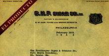 G.H.P. El Producto Cigar Letterhead 1922