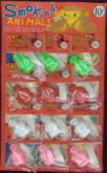 Smoking Monkeys Store Display Card Toys