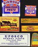 Mucilage Glue Bottle Labels
