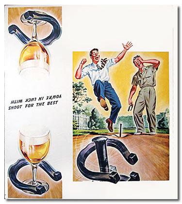 Horseshoe Beer Diner Poster