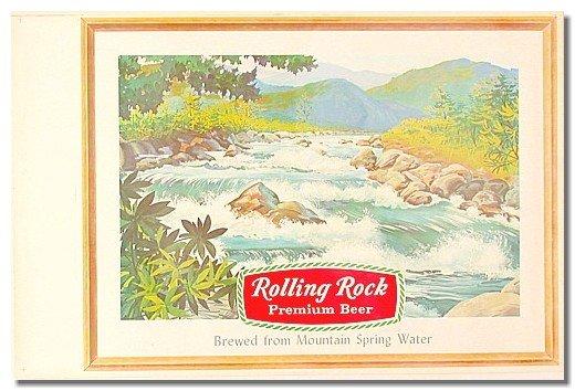 Rolling Rock Beer Poster 1950s