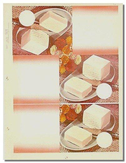 Vanilla Ice Cream Plates Poster 1957
