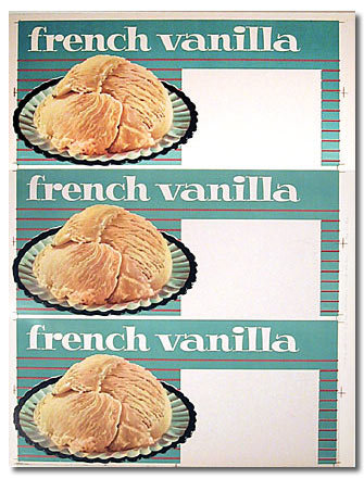 Vanilla Ice Cream Poster