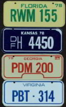 Post Honeycomb Cereal Toy Bike License Plates