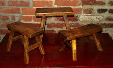 Farmers Wood Pocket Stool Primitive