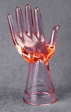 Glass Mannequin Hand - Pink