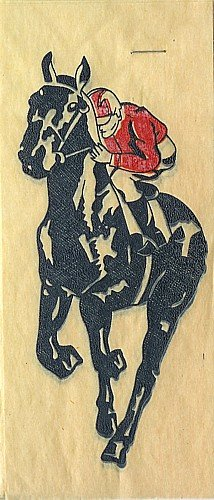 1940s Iron-On Transfer Decals - Horse Racing