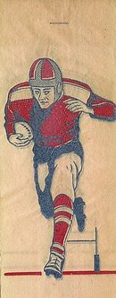 1940s Iron-On Transfer Decals - FOOTBALL