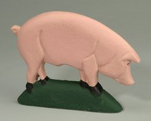 Pig Door Stop - Cast Iron