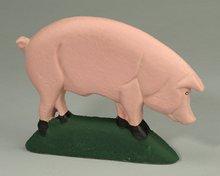 Pig Door Stop - Cast Iron