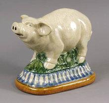 Porcelain Pig Statue