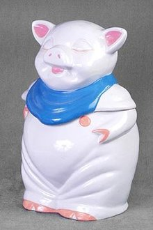 Porcelain Pig Cookie Jar