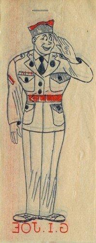 G.I. Joe Toy Iron-On Transfer 1940s