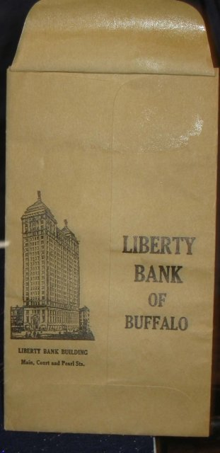 Liberty Bank Deposit Envelope 1910