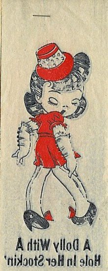 Doll Iron-On Decal Transfer - 1940s Toy