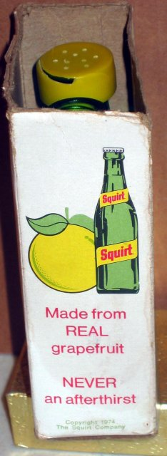 Squirt Soda Salt Pepper Shakers in Original Box