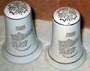 China Salt Pepper Shakers - Nebraska Souvenir