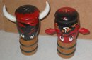 Japan Wood Tiki Salt Pepper Shakers